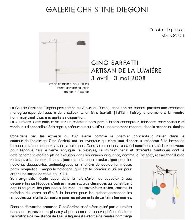 Gino Sarfatti, Artisan de la lumière fr-en-it