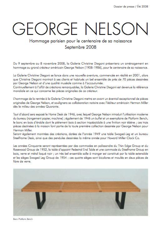 Georges Nelson – Hommage Parisien